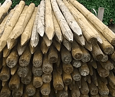 afrastering houten palen